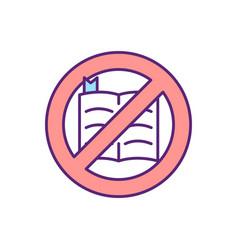 No bible rgb color icon vector