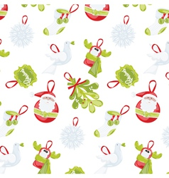 Pattern Happy New Year Christmas vector image vector image
