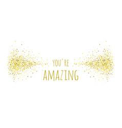 Phrase you re amazing vector