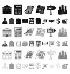 realtor agency cartoon icons in set collection vector image
