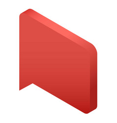 red bubble speech icon isometric style vector image