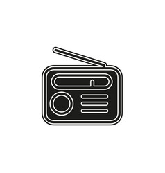 retro radio icon - media and music symbol vector image