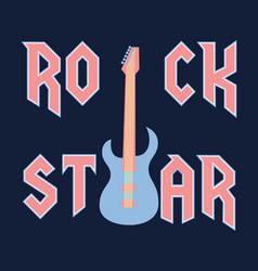 Rock star fashion slogan in style vector