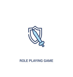 Role playing game concept 2 colored icon simple vector