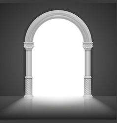 Roman arch with antique column title frame vector