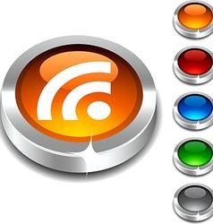 Rss 3d button vector