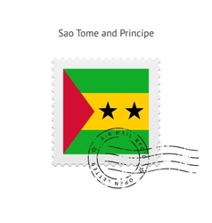 Sao Tome and Principe Flag Postage Stamp vector