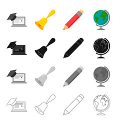 school educational institution and other web icon vector image