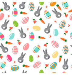 seamless simple pattern with ornamental eggs and vector image