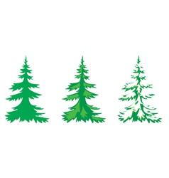 Set of 3 fir-trees vector
