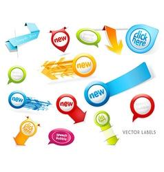 Set of colorful labels badges speech bubbles vector image vector image