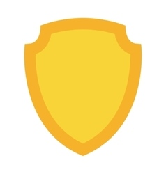 Shield gold vector image