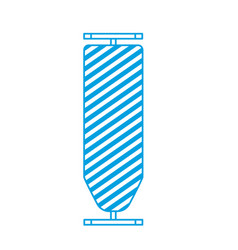 Silhouette ironing board domestic object design vector