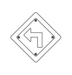 Silhouette metallic diamond frame turn left vector