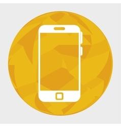 smartphone device circle icon vector image
