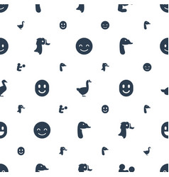 smiling icons pattern seamless white background vector image