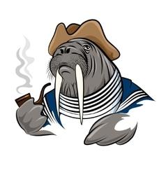 Smoking Walrus vector image