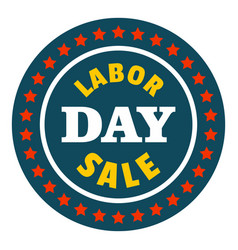special sale labor day logo icon flat style vector image
