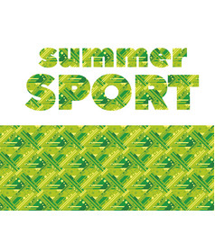 Summer grass sport abstract seamless pattern vector