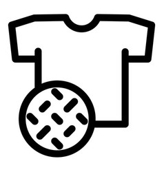 textile dirt tshirt icon outline style vector image