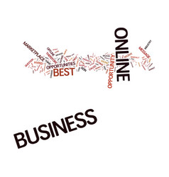 The best business online text background word vector