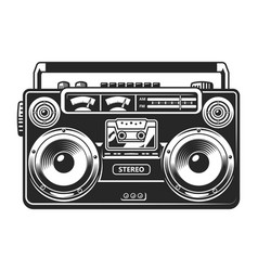 Vintage tape recorder or boombox concept vector