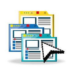 Website platform related with internet vector