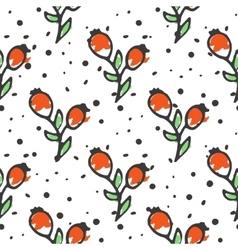 Berry tea seamless pattern briar organic herbal vector