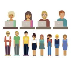 Office characters set vector image vector image
