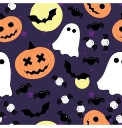 seamless pattern for Halloween Pumpkin vector image