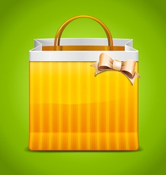 Shopping Bag Icon With Bow vector image vector image