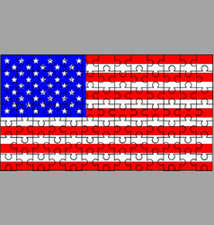 Stars and stripes jigsaw vector