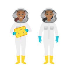 beekeeper woman characters vector image