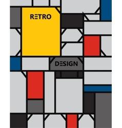 Geometric abstract pattern de stijl art vector