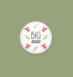 glossy sale button or badge product promotions vector image vector image