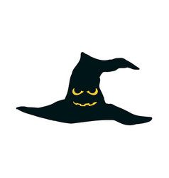 halloween hat with eyes and mouth scary hat vector image