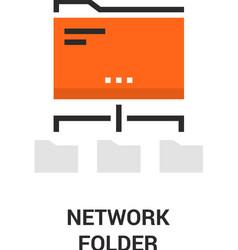 newtwork folder icon vector image vector image