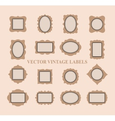 Set of vintage frames and design elements - vector image vector image