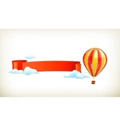 Air balloon banner vector image vector image