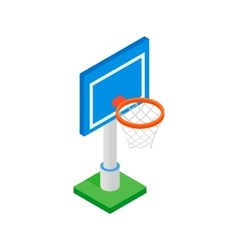 Basketball goal on a playground isometric 3d icon vector