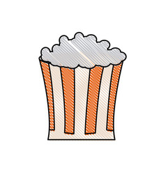 drawing pop corn food celebration party patrotic vector image