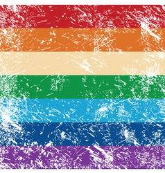 Gay rights flag vector image vector image