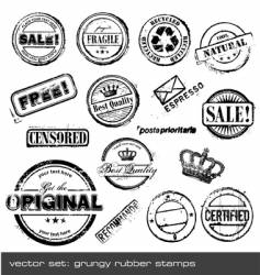 grunge rubber stamps vector image vector image