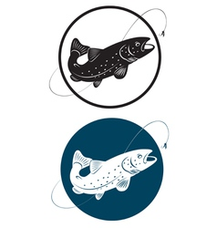 trout vector image