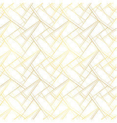 white seamless pattern with golden threads luxury vector image vector image