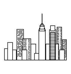 cityscape buildings skyline icon vector image vector image