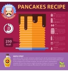 flat recipe infographic vector image