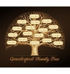 Genealogical family tree Dynasty vector image