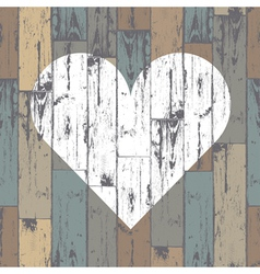 heart on wooden pattern vector image