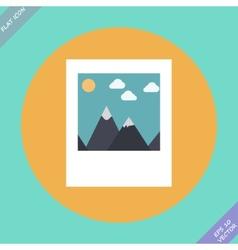 Landscape photo icon - vector image vector image